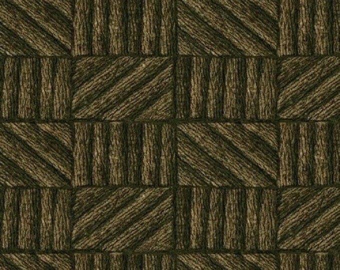SALE!! - One Yard Cabin Fever - Cabin Logs in Brown - Cotton Quilt Fabric - Windham Fabrics (W117)