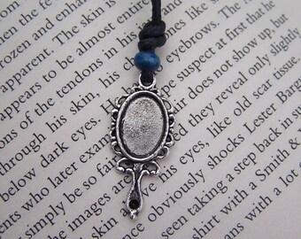 SALE Handmade Alice In Wonderland Mirror Adjustable Cotton Cord Necklaces