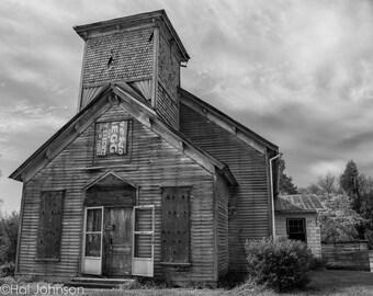 Adams Abandoned Church, 8 x 12 Fine Art Photography, Decor, Wall Art, Photo Art Print