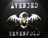 AVENGED SEVENFOLD Inspired White Deathbat Record Wall Clock