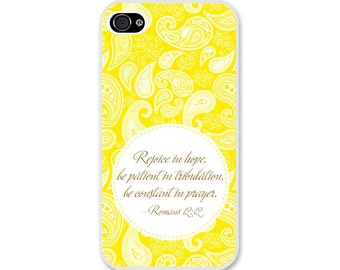 Bible Verse iPhone Case Romans 12:12 - Christian iPhone Case - Christian Bible Verse Phone Case SKU#ROM0120120-350001