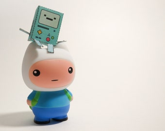 Adventure Time inspired Finn the Human Vinyl Toy - MOODY