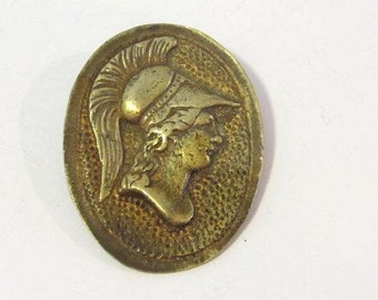 Antique vintage Victorian Brass brooch