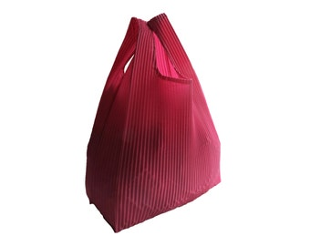 Pink Reusable Tote Bag - Shopping Bag with Recycled Hot Air Balloon