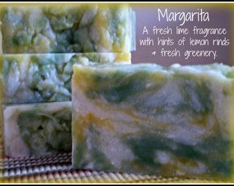 Margarita - Rustic Suds Natural - Organic Goat Milk Triple Butter Soap Bar - 5-6oz. Each