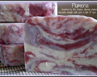 Plumeria - Rustic Suds Natural - Organic Goat Milk Triple Butter Soap Bar - 5-6oz. Each