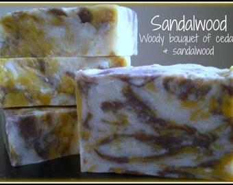 Sandalwood - Rustic Suds Natural - Organic Goat Milk Triple Butter Soap Bar - 5-6oz. Each