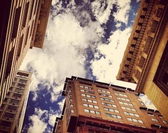 "Sky Clouds San Francisco Up Architecture optimism 8x8"" photo"