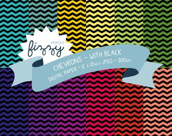 12 x Chevron Pattern Digital Papers for Personal and Commercial Use with Instant Download. SS0011