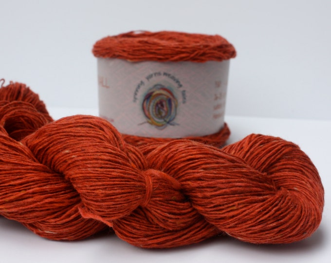 Spinning Yarns Weaving Tales - Tirchonaill 530 Orange copper 100% Merino for Knitting, Crochet, Warp & Weft