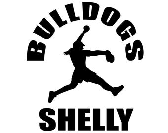 Personalized Softball Decal - Custom Sticker for Players and Softball Mom and Family
