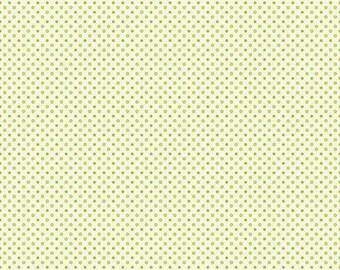 Riley Blake, Avignon, Tiny Dots/Circles, Green, Quilt Fabric