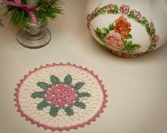 Crochet Coaster Pattern: Flower Coaster, PDF download