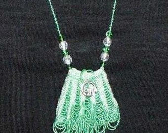 Knit Beaded Amulet Necklace