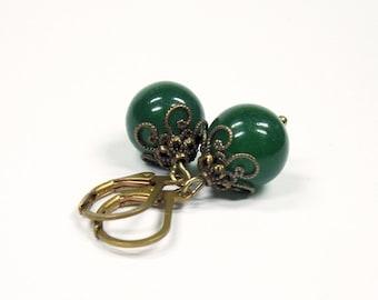 "Earrings ""Green jade"""