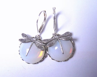 Dragonfly earrings Sterling wires