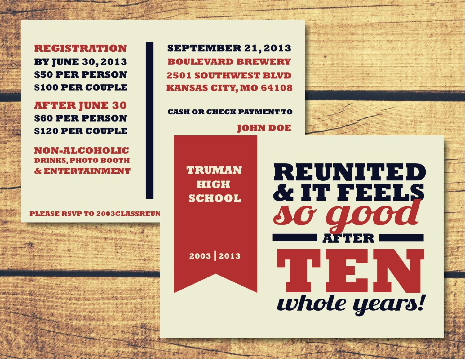 scholarly revival // printable high school reunion by ...