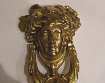 Brass Goddess Head Doorknocker