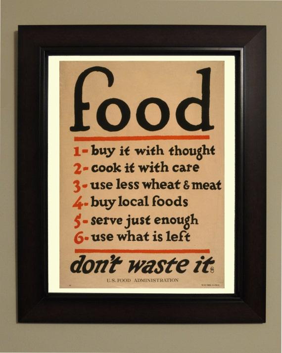 cibo vintage cucina poster 3 taglie disponibili basso prezzo