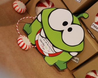 Cut the Rope Om Nom Invites (Digital File)