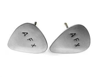Customizable Guitar Pick Cufflinks