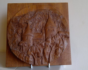 Castell Coch wood carving
