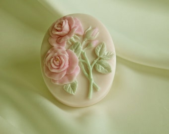 Roses On A Vine - Shea Butter Soap - Decorative Soap - Gift Soap