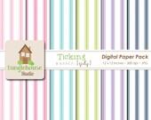 Ticking Digital Paper Pack | Instant Download | Digital Scrapbooking Basics | Ticking Pattern Papers