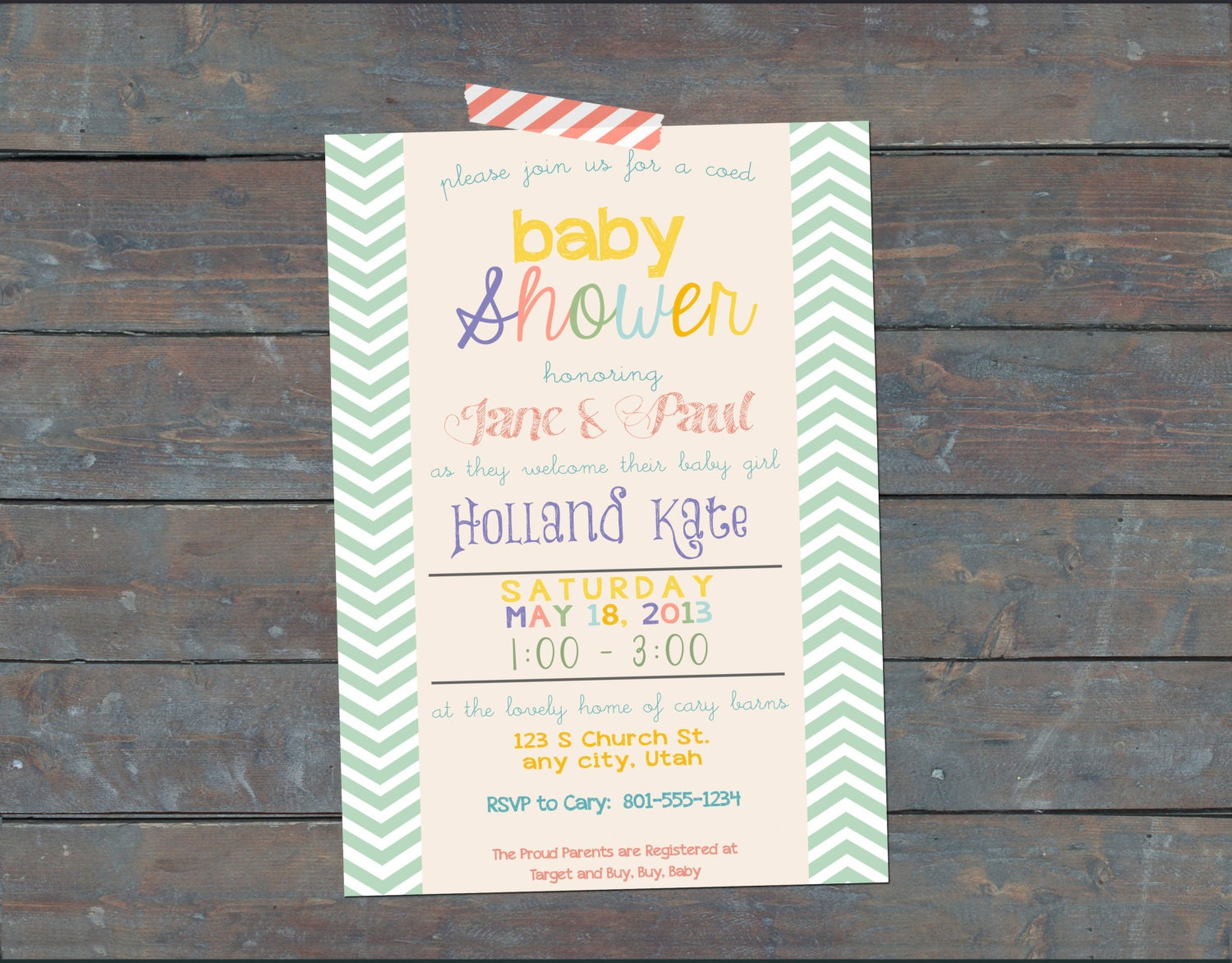 coed baby shower invitation coed girl baby by