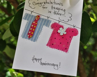 Anniverary Greeting Card  Congratulation For Hanging In There-Happy Anniversary