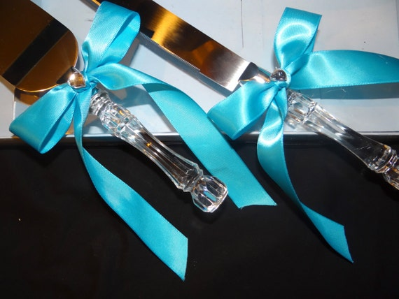 wedding cake cutting knife blue wedding cake knife set cake cutting set 8612
