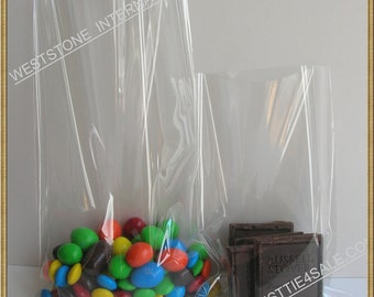 100pcs 6 in x 10 in crystal clear cello bag with twist ties