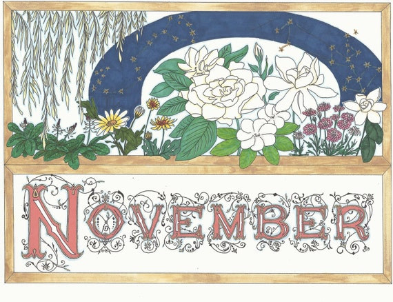November Birthday Card