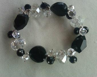 Bracelet, crystal bracelet, stretch bracelet, sparkly bracelet, glamour,