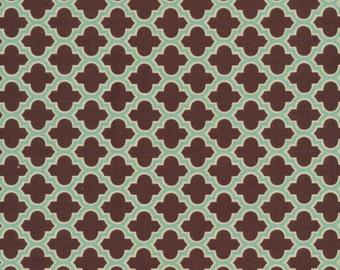1 Yard JOEL DEWBERRY Aviary 2 Lodge Lattice / Caramel FreeSpirit Fabric