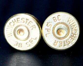 Handmade bullet stud earrings  (No crystals)
