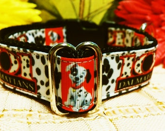 Dog Collar - All Sizes - 101 Dalmatians dog collar- Adjustable