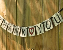 Thank You Sign. Wedding Photo Prop. Thank You Banner. Wedding Banner. Graduation Banner. Large Banner. Painted Banner.