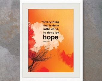 A3 Inspirational poster with hope quote. Positive thinking for office wall decor or graduation gifts. Inspiring quote poster (PO-A3-015)