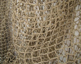 Old used fishing net black 10 ft x 10 ft vintage fish for Fish nets near me