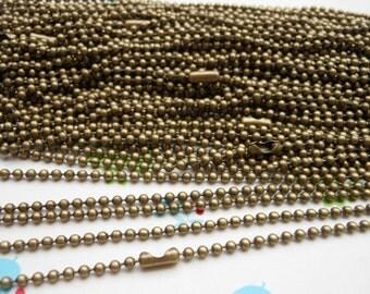 SALE--10 pcs  Antique Bronze Chain Necklaces - 27inch, 2.4 mm