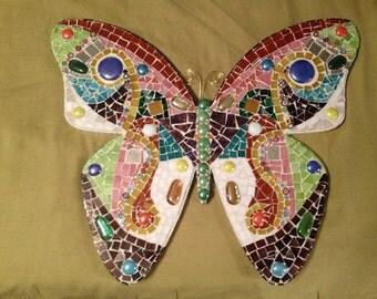Custom Made Mosaic Butterfly