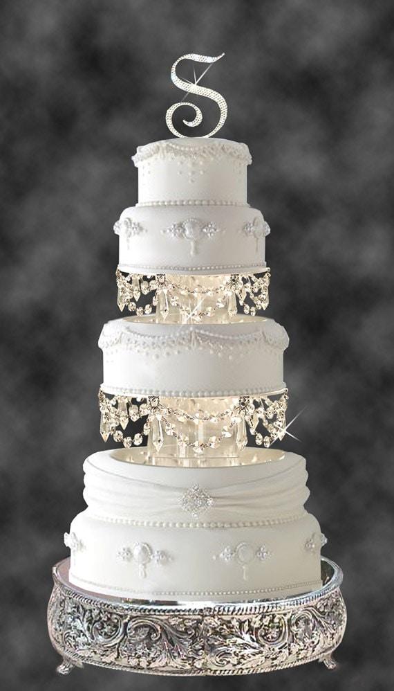 Swarovski And Rhinestone Crystal Chandelier Wedding Cake Tier