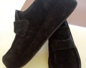 Stephane Kelian Black Platform Shoes Sz. 4 Vintage Retro Mad Men Fashion Shoes