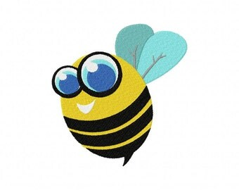INSTANT DOWNLOAD Bumble Honey Bee Machine Embroidery Design