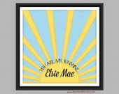 You Are My Sunshine Custom Lustre Nursery/Childrens Art Print - 12 x 12 in. NA1: Sunshine-1