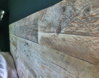 Elegant Wood Headboards Made from Reclaimed Wood (King)
