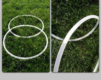 """Clear, Small, Mini Poi polypro hoops, 5/8"""" or 3/4"""" OD, Custom Sizes"""