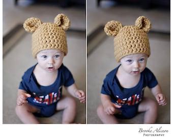 Bear/Bunny hat crochet pattern 0-6mo