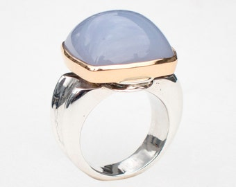 Ring with Chalcedony, Size 7.5